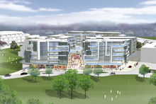 An artist's impression of how the planned new buildings would appear from the beachfront reserve. Photo / Supplied