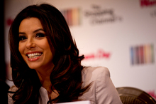 Eva Longoria at the Langham Hotel for the launch of The Shopping Channel in New Zealand. Photo / Dean Purcell