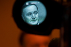 John Key says Kim Dotcom's image flashed up briefly.  Photo / Greg Bowker