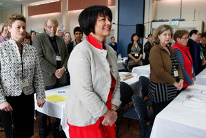 Education Minister Hekia Parata arriving at the NZPPTA annual conference at the Brentwood Hotel, Wellington. Photo / Mark Mitchell