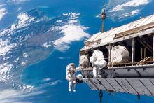 Man continues to send objects into space but the risk of collisions also continues to grow. Photo / Nasa