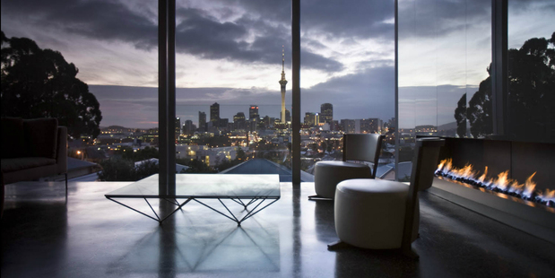 The Mai Mai house has magnificent views over Auckland. Photo / Pattersons