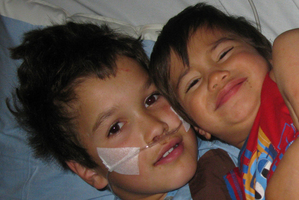 Manaaki with little brother Paul. Photo / Supplied