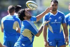 Piri Weepu trains with the All Blacks in Johannesburg this week.  Photo / Getty Images