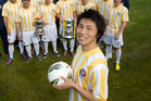 Takuya Iwata, 29, who plays for Central United FC. Photo / Steven McNicholl