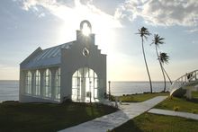 Chapel by the beach on the Coral Coast, Fiji. Photo / Tourism Fiji