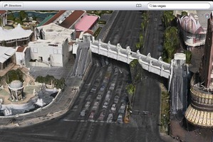 According to Apple's new Maps application roads in Las Vegas are melting. Photo / Supplied