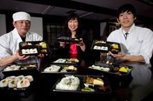 Miyuki Sakairi (centre) with chefs Jiro Wakamori (left) and Shota Takee. Photo / Natalie Slade