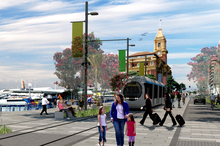 An artist's impression of plans for Quay St. Photo / Supplied