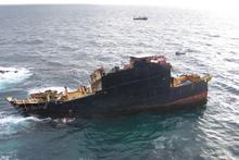 The Rena clean-up and salvage operation has so far cost the Crown about $47 million. Photo / Supplied