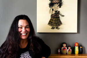 Rachel House's Maori Doll painting by Grant Hall is one of her most treasured possessions. Photo / Babiche Martens