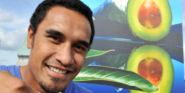 Jerome Kaino says it's great to be involved in promoting NZ avocados. Photo / Supplied