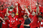 Liverpool captain Steven Gerrard with the European Cup.  Photo / AP