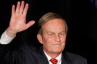 Senate candidate Rep. Todd Akin, waves to the crowd at a senate candidate forum.Photo / AP