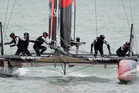 Crew members of Emirates Team New Zealand. Photo / AP