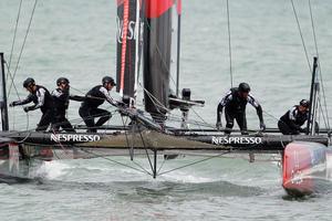 Crew members of Emirates Team New Zealand. Photo / AP