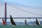 Easy to capsize, the AC45s are great to watch but, as the injury toll attests, dangerous to sail. Photo / AP