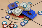 A poker table and gambling props from the One and Only Ocean Club.