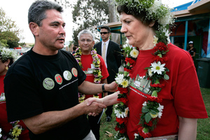 John Tamihere cold-shouldered by Helen Clark in 2005, is said to be keen to challenge for the seat of Paula Bennett in 2014. Photo / APN