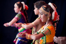 Next week's Diwali celebrations will include traditional performances such as a Tamil dance by Ashwini Rohan (foreground). Photo / Natalie Slade