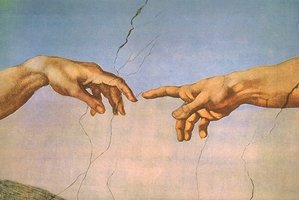 The Sistine Chapel ceiling centres on Michelangelo's fresco showing the hand of God reaching out to the hand of Adam, giving him life. Photo / Supplied