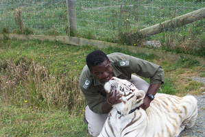 The real name of the keeper mauled to death by a tiger at a Whangarei wildlife park was Dalubuhle Ncube. Photo / supplied