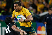 Digby Ioane of the Wallabies. Photo / Michael Cunningham