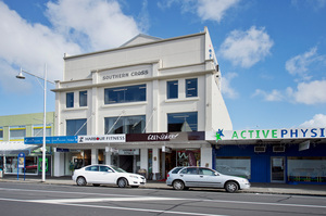 The former Southern Cross Picture Theatre in Ellerslie is for sale. Photo / Bruce Clarke
