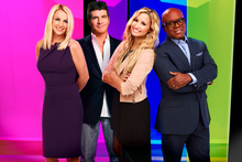X Factor USA judges Britney Spears, Simon Cowell, Demi Lovato and L.A. Reid. Photo / Supplied