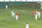 A low corner was dummied by not one, not two, but three players before it was driven low and hard past the Moldovan keeper by Andrija Zivkovic, Photo / Youtube.