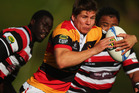 Piers Francis of Waikato makes a break during the round 13 ITM Cup rugby match between Counties Manukau and Waikato at ECOLight Stadium. Photo / Getty Images.