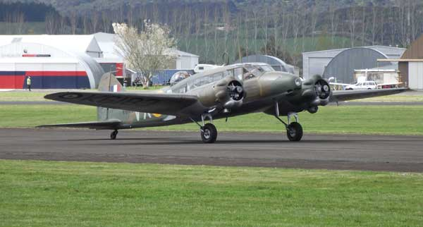 The Avro Anson bomber from Nelson was also at Ardmore. It is owned by Bill and Robyn Reid.