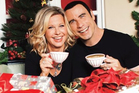 Olivia Newton-John and John Travolta on the cover of their Christmas album, due for release in November. Photo / Amazon.com