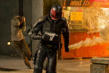 Karl Urban as Judge Dredd: A reboot that works. Photo / Supplied