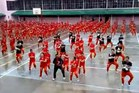 Prisoners at the Cebu Provincial Detention and Rehabilitation Center in the Philippines dancing Gangnam Style.