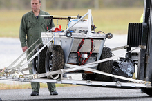 One of the robots used after the Pike River explosion. Photo / Ross Setford