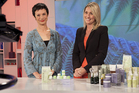 Lucy Gallaugher, right, is one of the presenters on the Shopping Channel. Photo / Supplied
