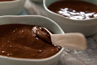 Chocolate souffle is a decadent treat, so you only need a little. Photo / Jason Burgess