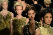 Models display creations by designer Vera Wang during the Spring/Summer 2013 New York fashion week.Photo / AP