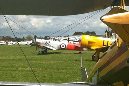 As well as the de Havilland Mosquito there were many other collectors' warbirds on show.