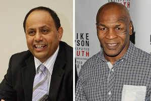 Mike Tyson could have a positive message for youngsters, says Willie Jackson (left). Photos / APN