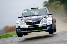 Hayden Paddon and John Kennard's flying French form was undone by a small mistake. Photo / Honza Fronek