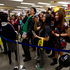 Young fans gather to get CDs signed by US singer Adam Lambert at JB Hi Fi. Photo / Dean Purcell