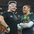 Richie McCaw talks to Bryan Habana after the match.Photo / Getty Images