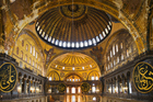 The grand interior of Istanbul's Hagia Sofia. Photo / Thinkstock