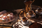 Kahve, aka Turkish coffee, is black and strong and bitter. Photo / Thinkstock.