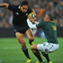 Hosea Gear runs through Bryan Habana of South Africa.Photo / Getty Images