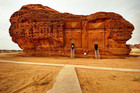 A tomb carved into sandstoneat Madain Saleh in Al-Ula, Saudi Arabia. Photo / Creative Commons image by Flickr user Orly Arcelao