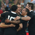 Richie McCaw, Aaron Smith, Israel Dagg and Dan Carter celebrate Conrad Smith's try.Photo / Getty Images
