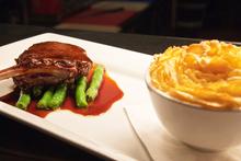 InterContinental Hotel's venison chop and hunter's pie. Photo / Jason Burgess